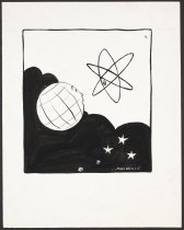 Image of [Earth staring eye to eye with nuclear power symbol] - MacKenzie, A.W.